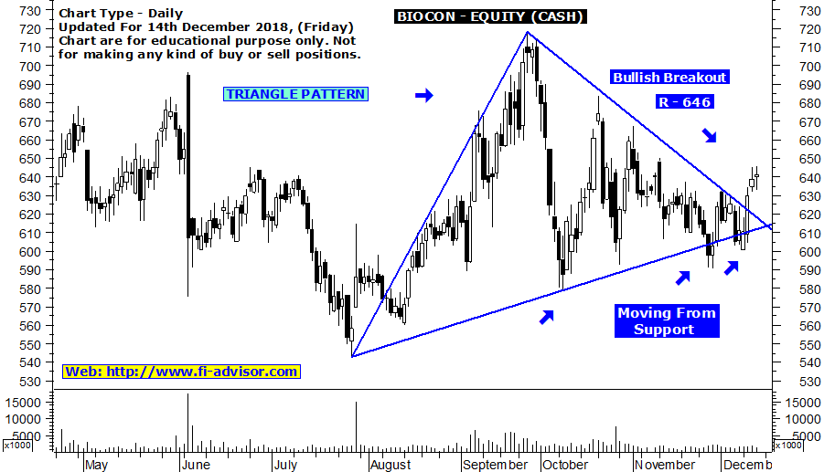 Free intraday stock tips on BIOCON updated for 14th December 2018